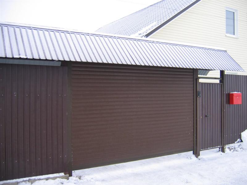 Как сделать роллетные ворота в гараж